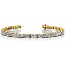 ForeverTennis Bracelet In 4 Prong set Princess Cut Diamonds.