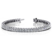 ForeverTennis Bracelet In Channel set Princess Cut Diamonds.