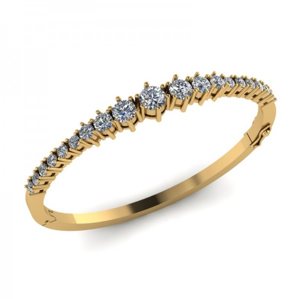 Bracelet In Prong Set Round Brilliant Diamonds