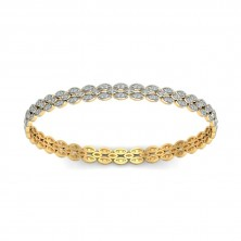Casual Wearing Bangle In Pave set Round Brilliant Diamonds.