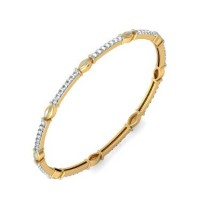 Casual Wearing Bangle In Prong set Round Brilliant Diamonds.