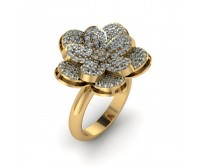 Flower Shape Designer Diamond Ring