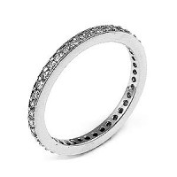 0.36 Ct. Eternity Diamond Band Ring of Round Brilliant Diamonds