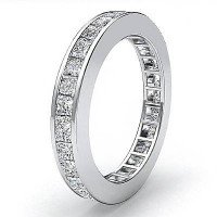 1.68 Ct. Eternity Diamond Band Ring of 1 Row Princess Cut Diamonds