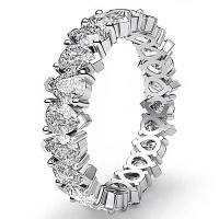 4.00 Ct. Eternity Diamond Band Ring of 1 Row Pear Shape Diamonds