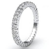 1.44 Ct. Eternity Diamond Band Ring of 1 Row Round Brilliant Diamonds