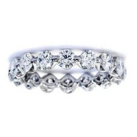 3.20 Ct. Eternity Diamond Band Ring of 1 Row Round Brilliant Diamonds