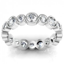 2.07 Ct. Eternity Diamond Band Ring With Round Brilliant Diamonds