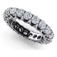 2.64 Ct. Eternity Diamond Band Ring With Round Brilliant Diamonds