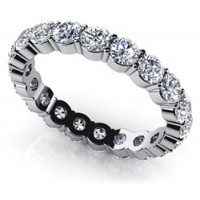 3.60 Ct. Eternity Diamond Band Ring With Round Brilliant Diamonds