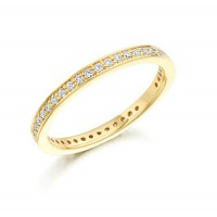 0.34 Ct. Eternity Diamond Band Ring With Round Brilliant Diamonds
