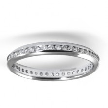 0.60 Ct. Eternity Diamond Band Ring With Round Brilliant Diamonds