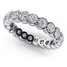 4.00 Ct. Eternity Diamond Band Ring With Round Brilliant Diamonds