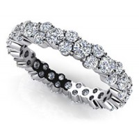 2.80 Ct. Eternity Diamond Band Ring With Round Brilliant Diamonds