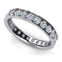 1.30 Ct. Eternity Diamond Band Ring With Round Brilliant Diamonds