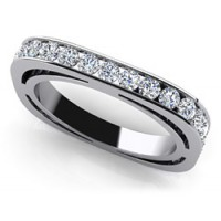 1.28 Ct. Eternity Diamond Band Rings With Round Brilliant Diamonds
