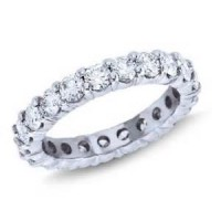 1.90 Ct. Eternity Diamond Band Ring of 1 Row Round Brilliant Diamonds