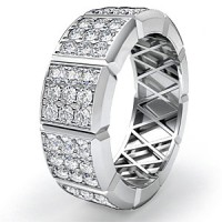 1.35 Ct. Eternity Diamond Band Ring of Round Brilliant Diamonds