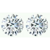 1.30 Ct. Set of 2 Round Brilliant Solitaire Diamonds In Gift Packing