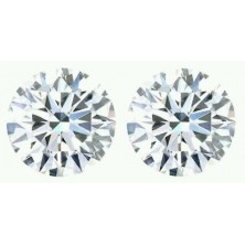1.80 Ct. Set of 2 Round Brilliant Solitaire Diamonds In Gift Packing