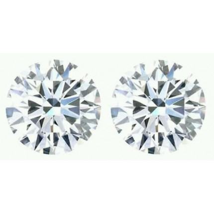 0.80 Ct. Set of 2 Round Brilliant Solitaire Diamonds In Gift Packing