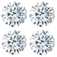 0.40 Ct. Set of 4 Round Brilliant Diamonds In Gift Packing