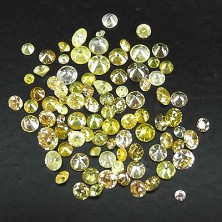 2.00 Ct. Round Brilliant Natural Fancy Color Diamonds Lot