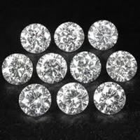 0.40 Ct. Set of 10 Round Brilliant Diamonds In Gift Packing