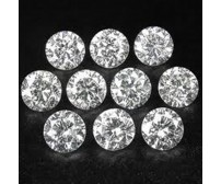 0.20 Ct. Set of 10 Round Brilliant Diamonds In Gift Packing
