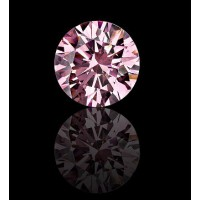 0.02 Ct. Natural Fancy Pink Round Brilliant Diamond In Gift Packing