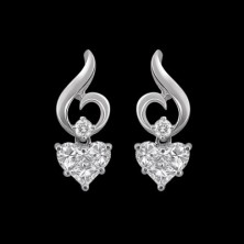 Kissing Diamond Earrings With Accent Diamonds