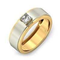 "0.80 Ct. Men""s Solitaire Diamond Ring With Princess Cut Diamond"