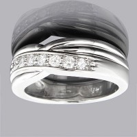 0.36 Ct. Diamond Band Ring With Round Brilliant Diamonds