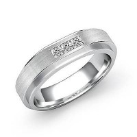 0.18 Ct. Diamond Band Ring With Princess Cut Diamonds