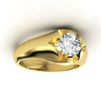 "0.75 Ct. Men""s Solitaire Diamond Ring With Round Brilliant Diamond"