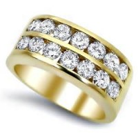 "0.98 Ct. Men""s Diamond Band Ring With Round Brilliant Diamonds"