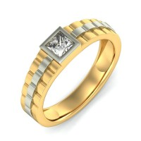 "0.70 Ct. Men""s Solitaire Diamond Ring With Princess Cut Diamond"