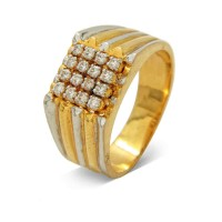 "0.64 Ct. Men""s Diamond Ring With Round Brilliant Diamonds"