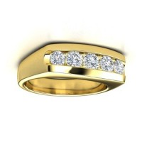 0.80 Ct. Diamond Band Ring With Round Brilliant Diamonds