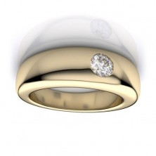"0.60 Ct. Men""s Solitaire Diamond Band Ring With Round Brilliant Diamond"