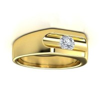 "0.60 Ct. Men""s Solitaire Diamond Ring With Round Brilliant Diamond"