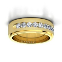 0.90 Ct. Diamond Band Ring With Round Brilliant Diamonds