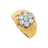 "0.49 Ct. Men""s Diamond Ring With Round Brilliant Diamonds"