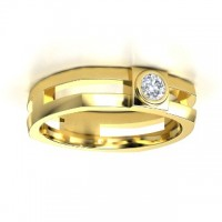 "0.50 Ct. Men""s Solitaire Diamond Ring With Round Brilliant Diamond"