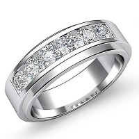 1.20 Ct. Diamond Band Ring With Round Brilliant Diamonds