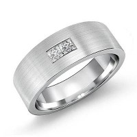 0.30 Ct. Diamond Band Ring With Princess Cut Diamonds