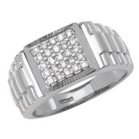 "0.50 Ct. Men""s Diamond Ring With Round Brilliant Diamonds"