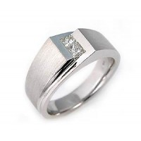 "0.10 Ct. Men""s Diamond Ring With Round Brilliant Diamonds"