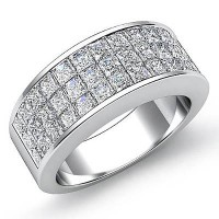 1.17 Ct. Diamond Band Ring With Princess Cut Diamonds