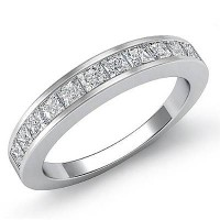 1.10 Ct. Diamond Band Ring With Princess Cut Diamonds
